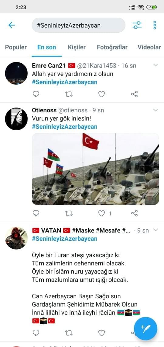 Türkiyədə yeni həştəqlə Azərbaycana dəstəyə başlanılıb - FOTO